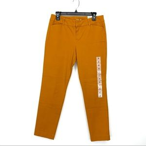 Old Navy Pixie Ankle Mustard High Rise Pants New
